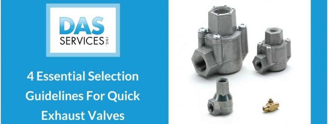 4 Essential Selection Guidelines for Quick Exhaust Valves