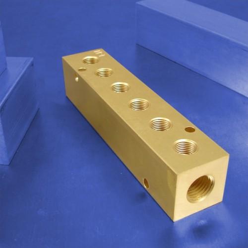 6-Station Brass Manifolds