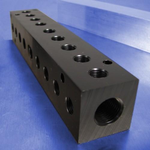 9-Station Pneumatic Manifolds (90 degree Output Ports)