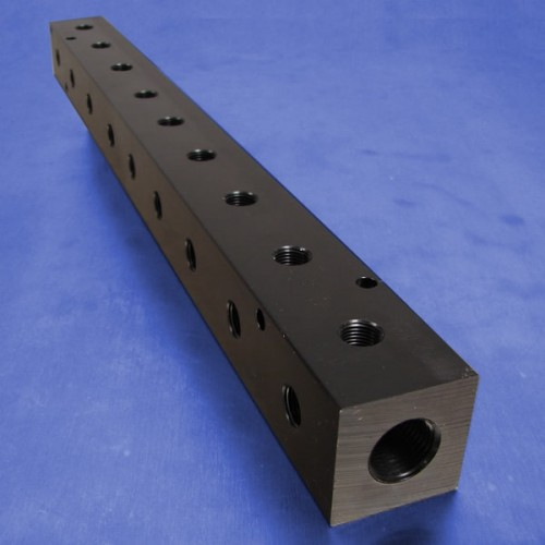 9-Station Pneumatic Manifolds (90 degree Output Ports, 1.5inch Spacing)