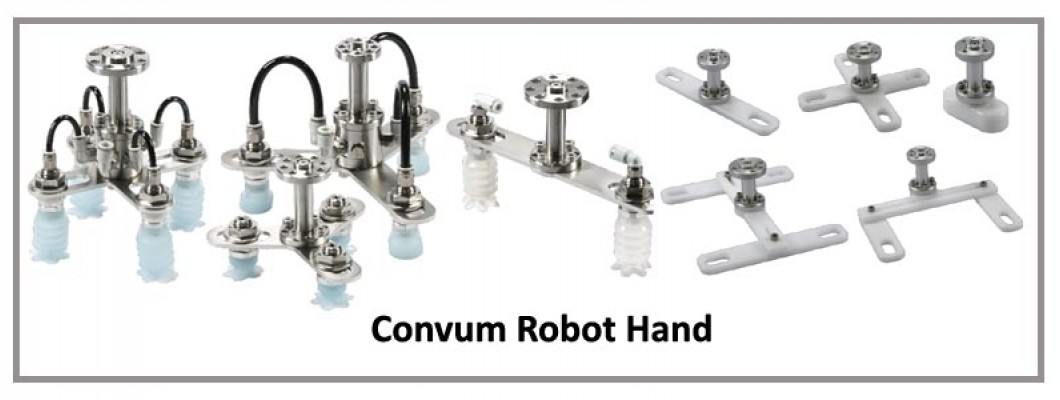 Convum Robot Hand for Collaborative Robot, Sanitary and Food Industry