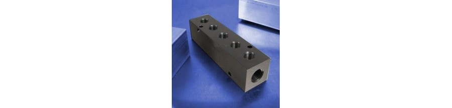 5-Station Pneumatic Manifolds (90 degree Output Ports, 1.5inch Spacing)