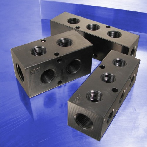 Pneumatic Manifolds: 90 degree Output Ports, 1.5inch Spacing